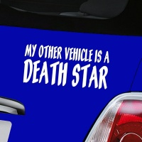 My Other Vehicle Is A Death Star Decal - White